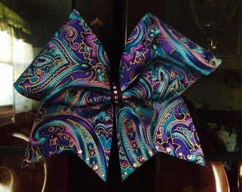 Purple and blues cheerbow
