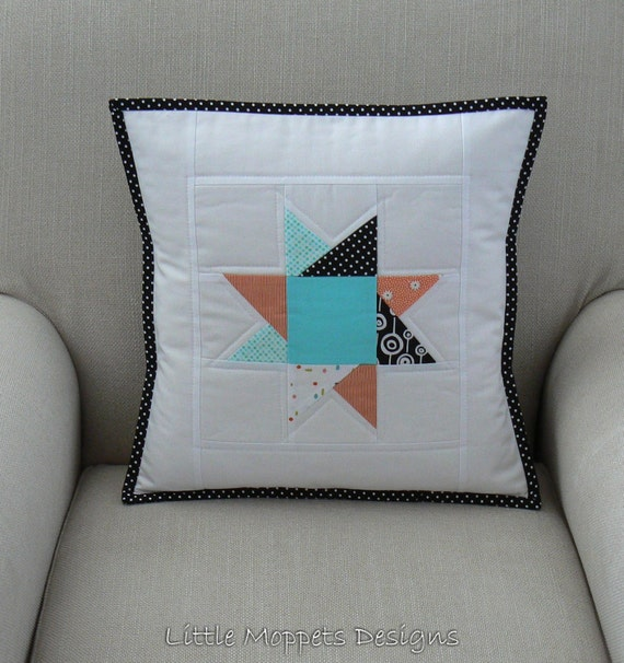 Modern Patchwork Pillow : Modern Patchwork Pillow Cushion Pillow Baby Quilted