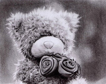 Popular items for teddy bear drawing on Etsy