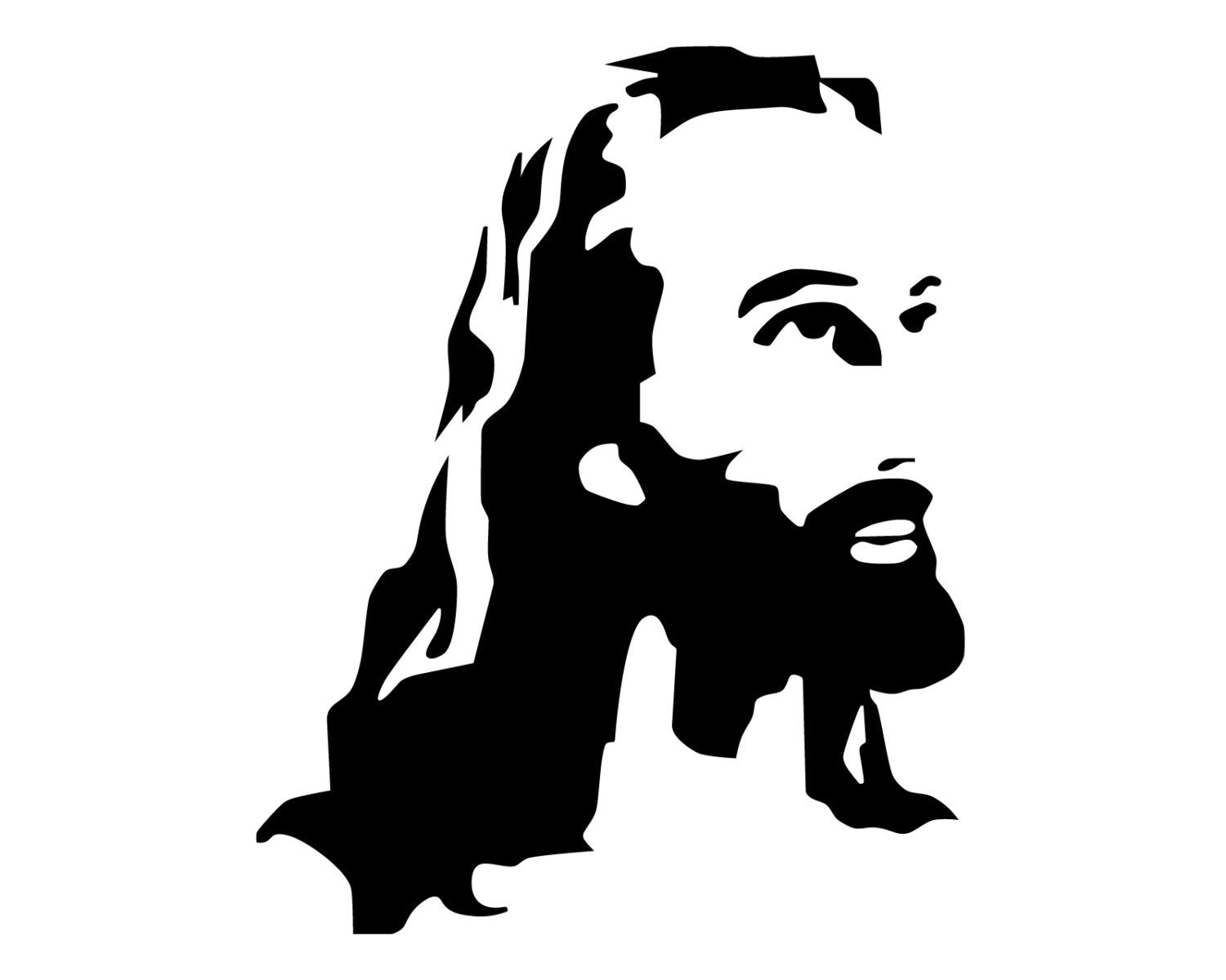 Jesus Decal Jesus Portrait Bumper Sticker Jesus Christ