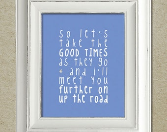 bruce springsteen art print / further on up the road lyrics