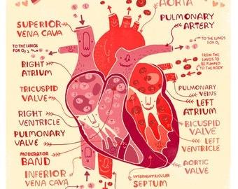 Lub Dub goes the Heart :anatomy poster