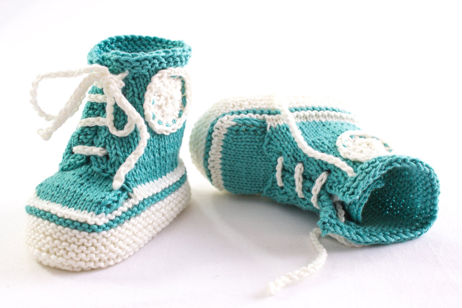 KNITTING PATTERN PDF Knit Sneaker Booties PatternTrainer
