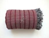 Linen blanket - throw blanket - plaid - bedspread - bed cover - beach blanket - picnic blanket