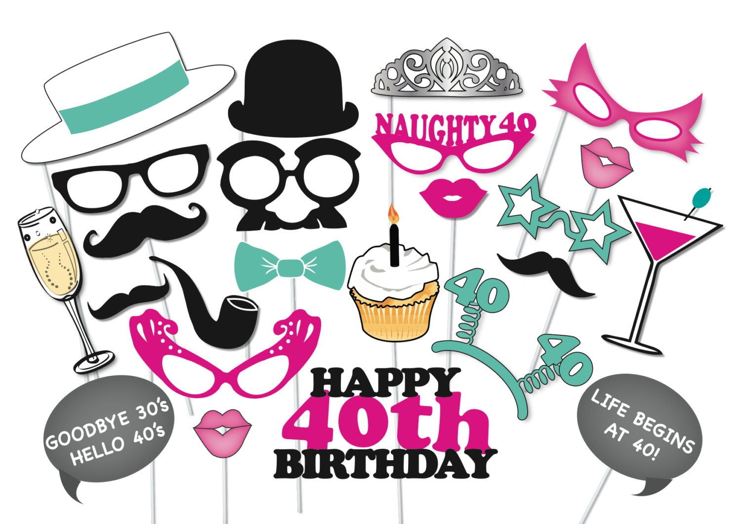 40th birthday ideas | Etsy