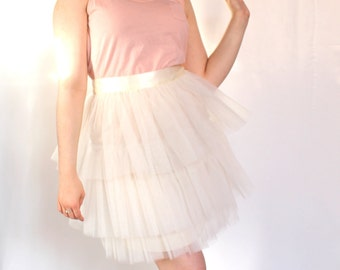 Tulle Skirt Manhattan Ivory (more colors available)