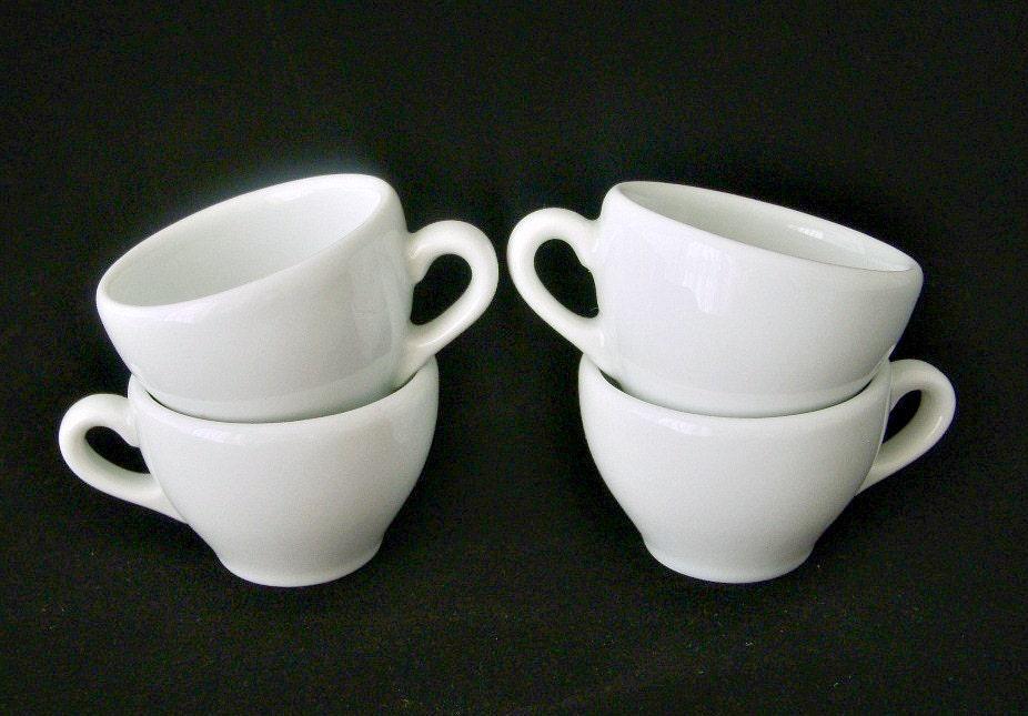 Apilco France Classic White Demitasse Espresso Cups Set Of 4