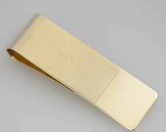 Vintage 14K Solid Gold Money Clip by Doskow