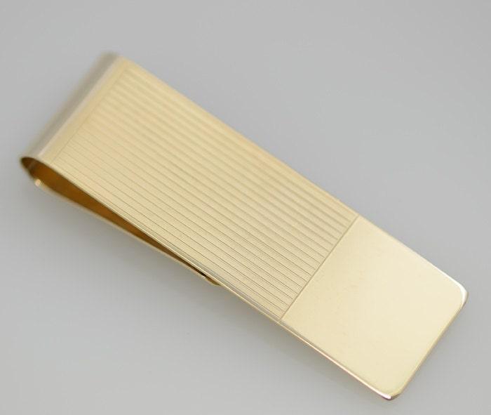 Galerry 14k gold money clip
