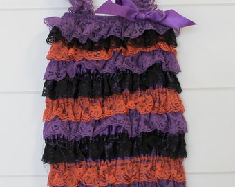 Halloween Lace Romper