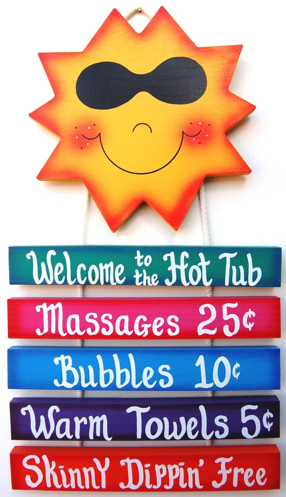 Hot Tub Signs uk Outdoor Hot Tub Sign