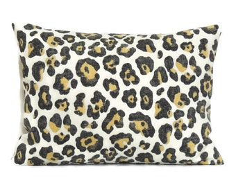 Leopard Pillow Cover, Lumbar Decorative Pillows, 12x16 Pillow Cover, Cushion Cover, Toss Pillow Covers, Lumbar Pillow, Paramount Shadow