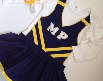 Custom Made Cheerleader Bodysuit, Baby Cheer Dress, Baby Cheerleader, Cheer Costume, Baby Cheer Uniform