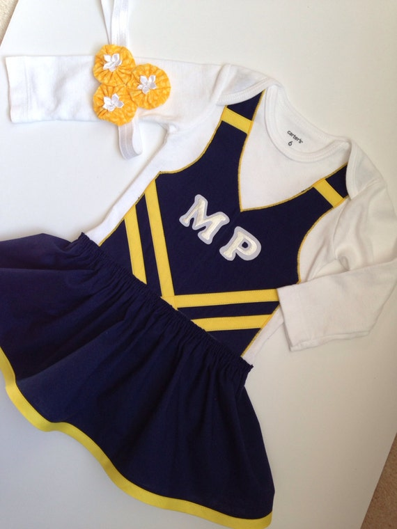 Custom Made Cheerleader Bodysuit Baby Cheer Dress Baby