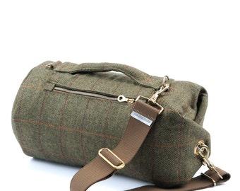 Yorkshire Tweed Duffle Bag - Small   Red Stripe