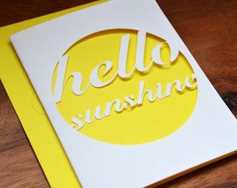 Die-Cut Hello Sunshine Card in Yellow