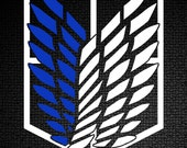 SnK / AoT - Scouting Legion / Recon Corps Crest ( Wings of Freedom ) Vinyl Sticker / Decal