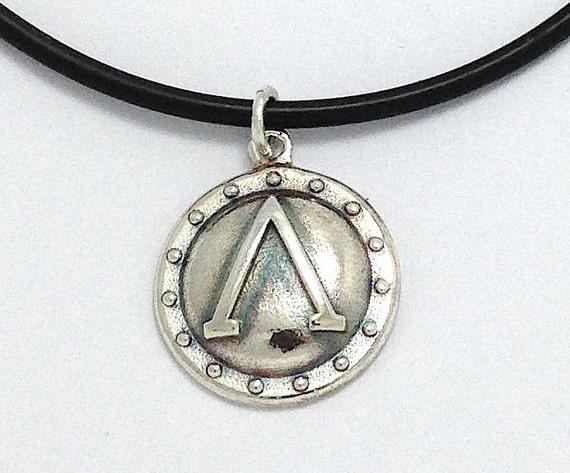 unique angeline quinn sterling silver spartan shield pendant