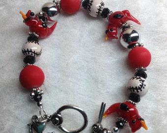 I love Baseball St. Louis Cardinal Bracelet