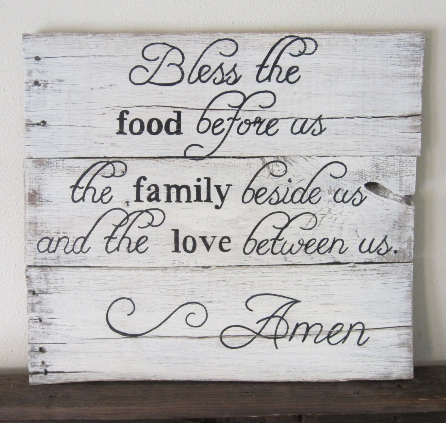 bless the food family plaque volvoab. Black Bedroom Furniture Sets. Home Design Ideas