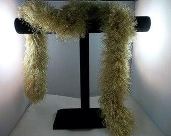 Gold Metallic Knit Scarf