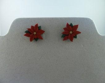 Poinsettia Stud Earrings