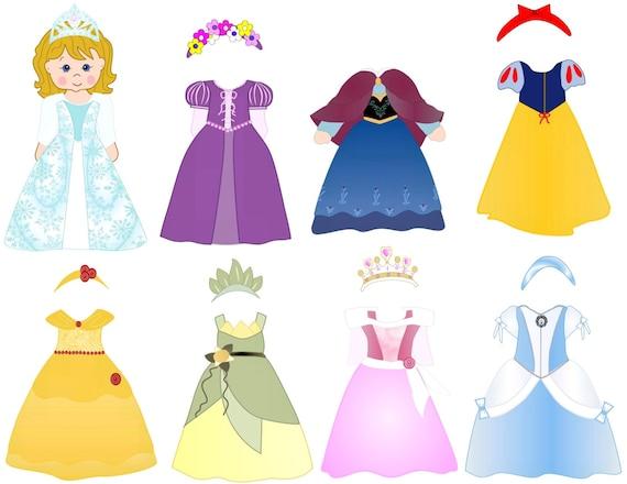 Disney Princess Dress Up Help the by Quietbooks4children
