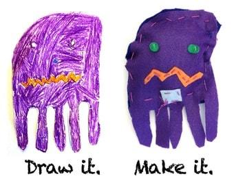 Purple Felt Glowie Monster Light-Up Plush Electronics & Sewing Kit