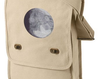 Lunar Light Embroidered Canvas Field Bag