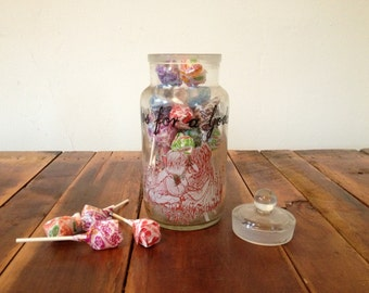 Retro Lollipop Apothecary Candy Glass Jar