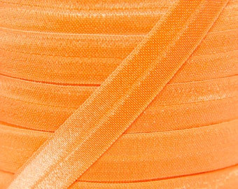 Orange Fold Over Elastic - Elastic For Baby Headbands and Hair Ties - 10 Yards of 5/8 inch FOE
