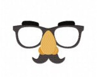 Funny Glasses Machine Embroidery Design
