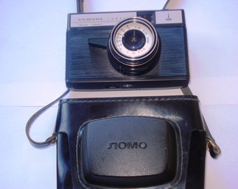 Soviet Vintage  film camera SMENA SYMBOL with original leather case - Working condition