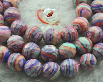Red Malachite faceted round beads 8mm,47 pcs