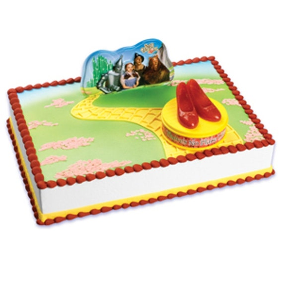Wizard Of Oz Cake Decorating Kit : Items similar to Wizard of Oz Ruby Slippers Cake Topper ...