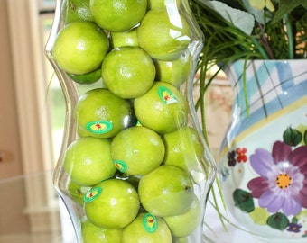 Artificial natural faux limes 16-pack