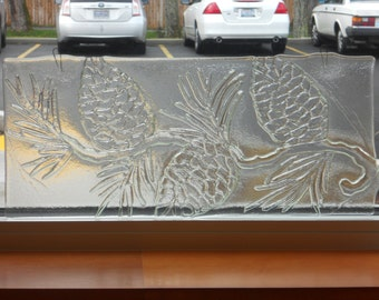 Pinecone Textured Glass Panel
