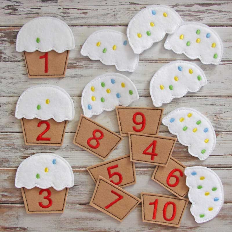 Preschool Toys And Games : Counting game learning numbers felt toy