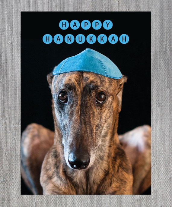 greyhound gift card printable greyhound card hanukkah digital download brindle 4901