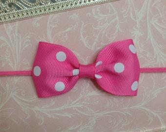 Baby Headband - Baby Bow Headband - Little Bow Headband - Newborn Headband - Pink Bow Headband - Baby Girl Headband - Toddler Headband
