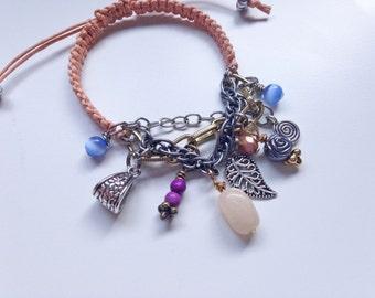 Spring Fling Pantone Macrame Charm Bracelet