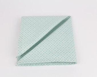 Fresh Mint Mens Pocket Square, Cotton Hankie, Handkerchief