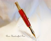 Ball Point Pen - Handcrafted Acrylic - Platinum Plated Hardware - Gift Idea