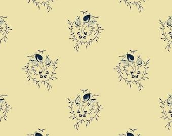 Romantic Renaissance - Blue Pretty - 1/2yd