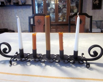 Vintage Scrollwork Iron Multi Candle Holder