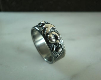 Handmade Nature-Inspired Abstract Sterling Silver Ring