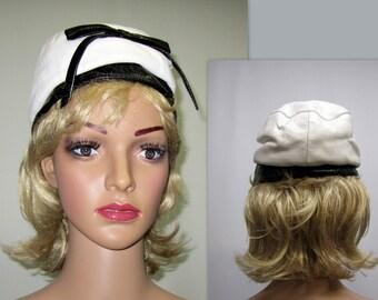 Vintage 60s Hat, MOD 60s Hat, Lilly Dache 60s Hat, Twiggy 60s Hat