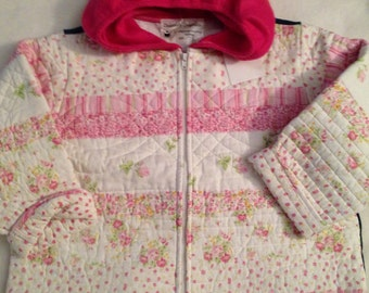 M7   Sweet girls size 7-8 quilted jacket