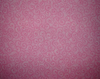 Per yard, Pink Tilt a Whirl Quilting Fabric