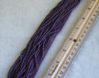 Purple opaque seed bead  Size 11 glass beads  Purple beads